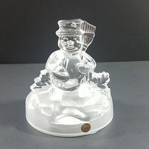 Cristal D'Arques Snowman Figurine Lead Crystal